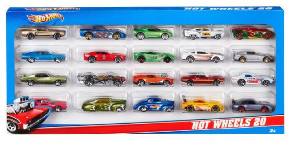 Hot Wheels 20 Toy 1:64 Scale Car Pack H7045 Vehicle Contents Vary